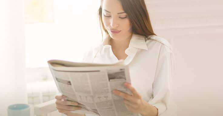 Immobilienanzeige Zeitung